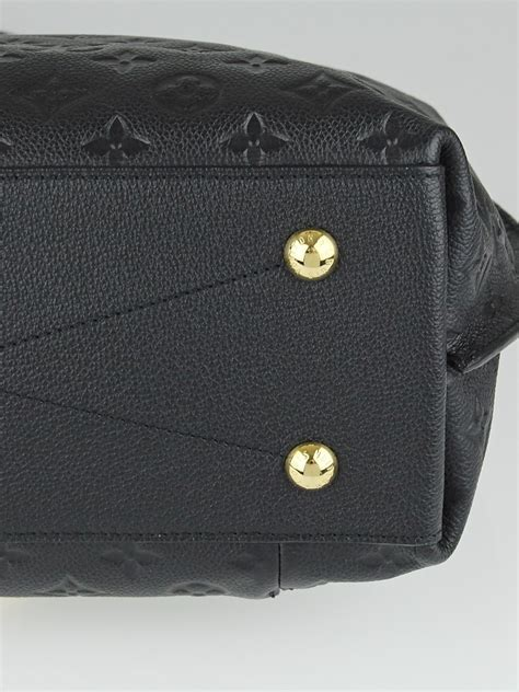 louis vuitton black monogram empreinte leather metis bag