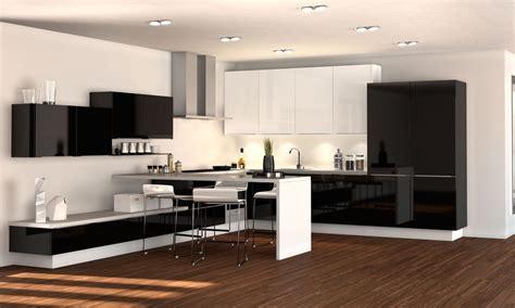cocinas moderna en blanco  negro imagenes  fotos