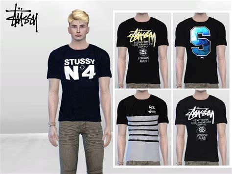 sims 4 cc male geek shirts mclaynesims stussy urban tees