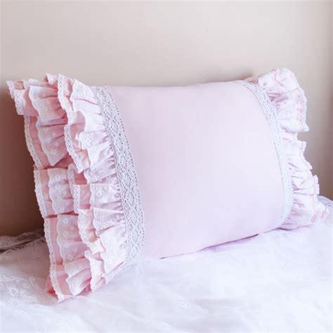 light pink bed pillows lace pillow
