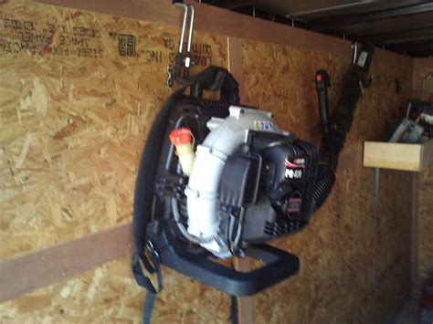 homemade  pack blower rack lawnsite   largest