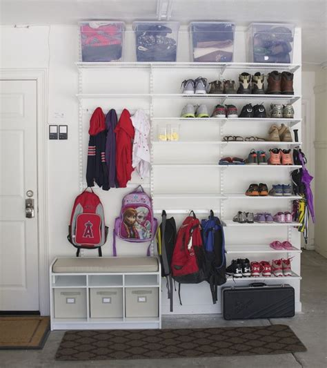 Shoe Shelf For Garage by 25 Best Ideas About Garage Shoe Storage On