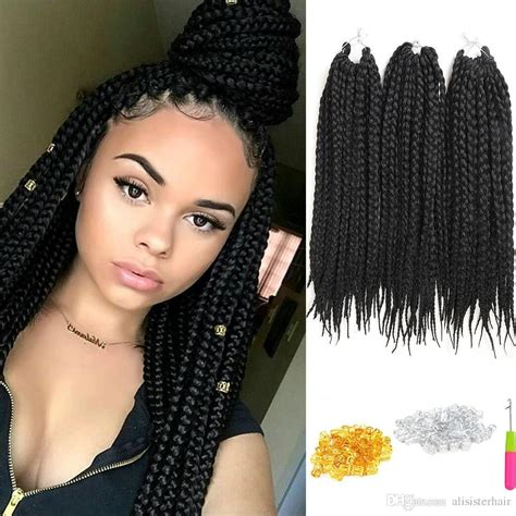 Unbelievable Pack Crochet Hair Extensions Box Braids Inch