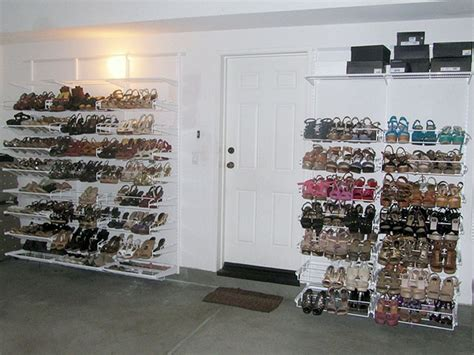 elfa shoe storage my entire elfa quot shoe wall quot for shoes