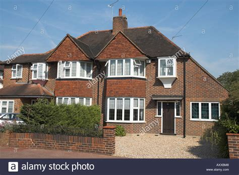buy house in england uk england surrey semi detached house in 1930s style stock photo royalty free image