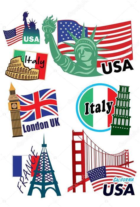 Koffer Met Sticker by Land Koffer Stickers Stockvector 169 Alkkdsg 30570227