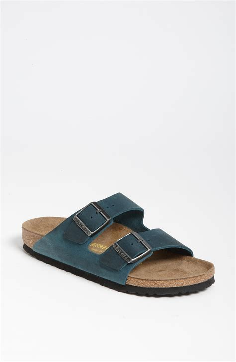 birkenstock designer sandals birkenstock arizona leather sandal in blue