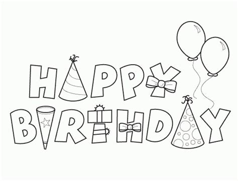 printable coloring pages birthday free printable happy birthday coloring pages 24 image