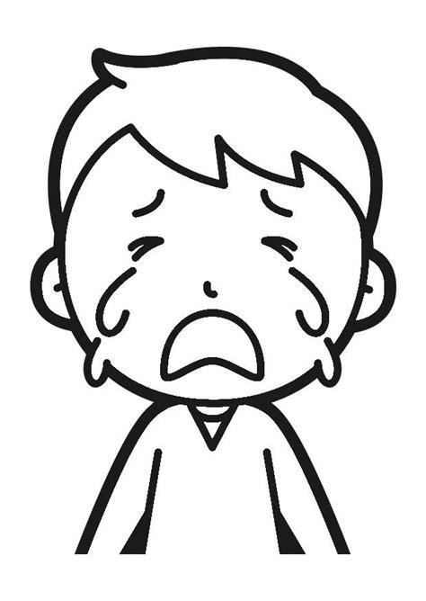 imagenes de niños llorando animadas dibujo para colorear llorar img 30248