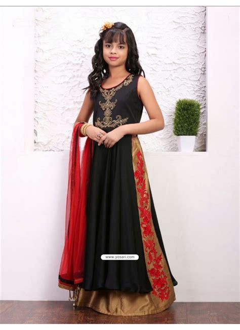 Glossy Dress buy glossy black taffera silk dress indowestern dresses