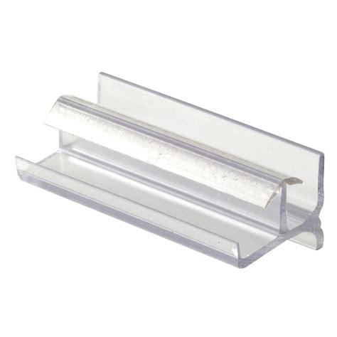 Sliding Shower Door Guide Shop Prime Line 3 In Clear Bottom Sliding Shower Door Guide At Lowes