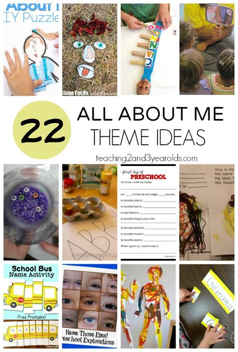 kindergarten themes and activities 11 best me myself and i images on pinterest human body