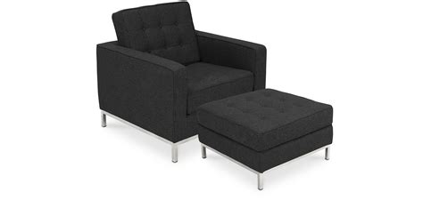 Knoll Ottoman by Fauteuil Knoll Avec Ottoman Assorti Style Florence Knoll