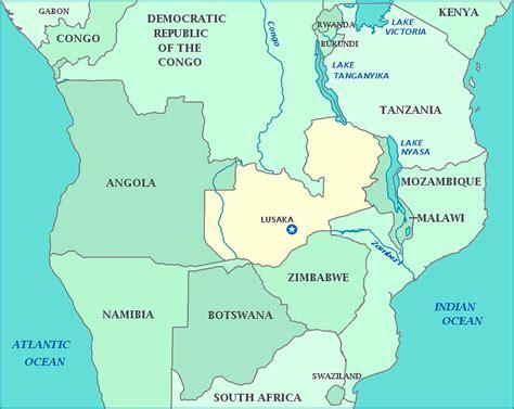 map of lusaka gallery zambia map africa