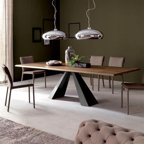 tavolo legno e acciaio tavolo in legno e acciaio eliot di cattelan arredaclick