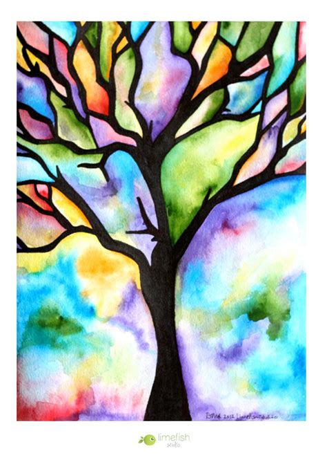 water color ideas recreation therapy ideas watercolor trees