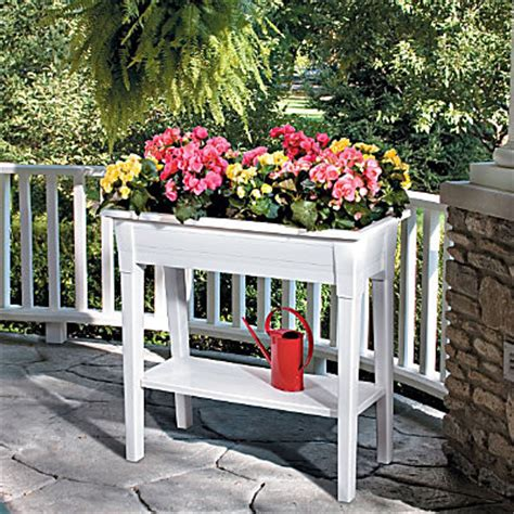 Outdoor Raised Planters by Raised Garden Planter Outdoor Pots And