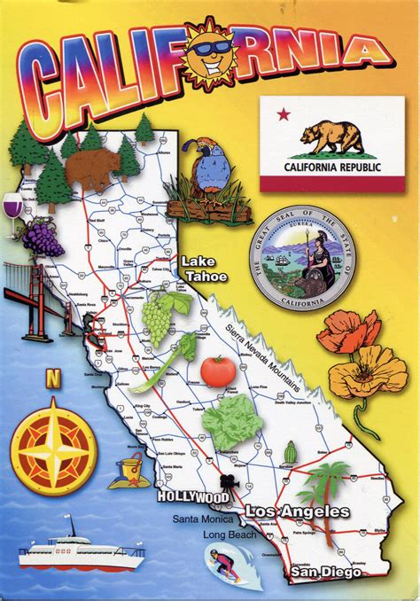 california tourist attractions map detailed tourist map of california state california state