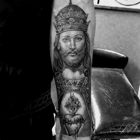 jesus tattoo on man s arm 72 great looking jesus tattoos for arm