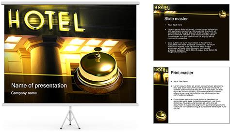 hotel powerpoint presentation templates hotel service powerpoint template backgrounds id