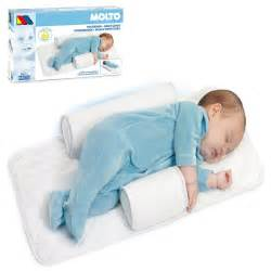 baby pillow bed molto baby infant newborn sleep positioner anti roll