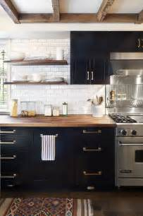 Kitchen With Black And White Cabinets One Color Fits Most Black Kitchen Cabinets