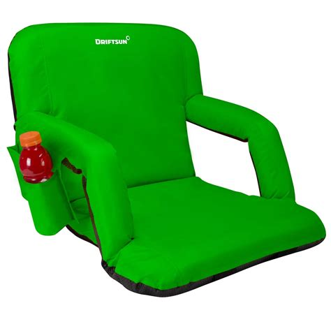 bleacher chairs with backs driftsun stadium seat reclining bleacher chair folding