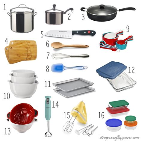 kitchen basics my must have list a teaspoon of happiness