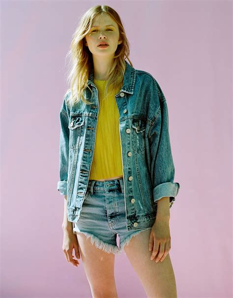 Jaket Oversized Bershka oversized denim jacket new bershka malta