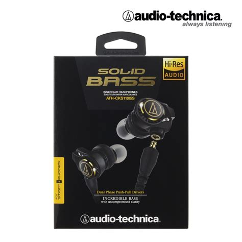 Promo Audio Technica Solid Bass In Ear Headphones Ath Cks550is Bk Ex Earphone Audio Technica Ath Cks1100is Solid Bass Keewee Shop