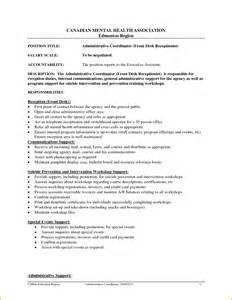 resume template for receptionist resume template for receptionist