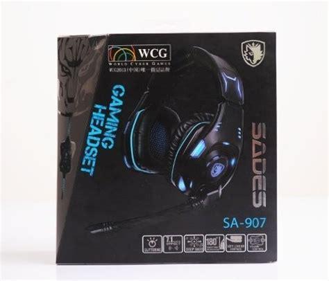 Gaming Headset Sades Sa 907 sades sa 907 pc gaming headset w microphone volume