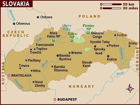 Search Slovakia Map Of Slovakia