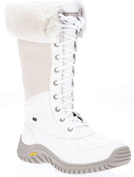 white ugg boots for ugg adirondack snow boot in white lyst