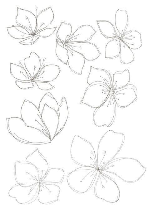 floral pattern sketch floral drawings cliparts co