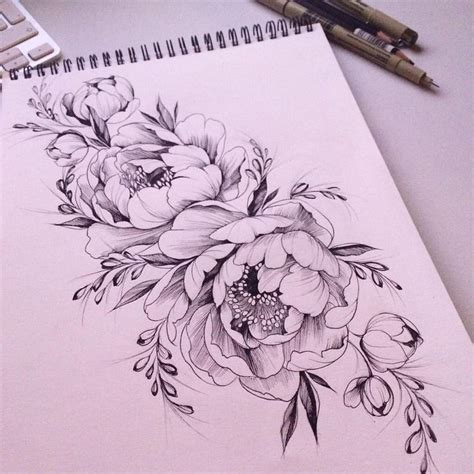 peonies tattoo best 25 peonies ideas on peony drawing