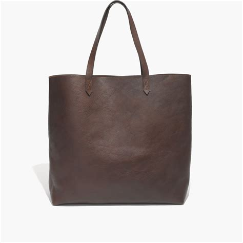 madewell  transport tote  brown lyst