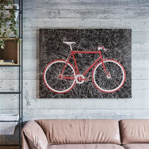 cycling home decor yosemite home decor 36 in x 48 in quot city cycling quot hand