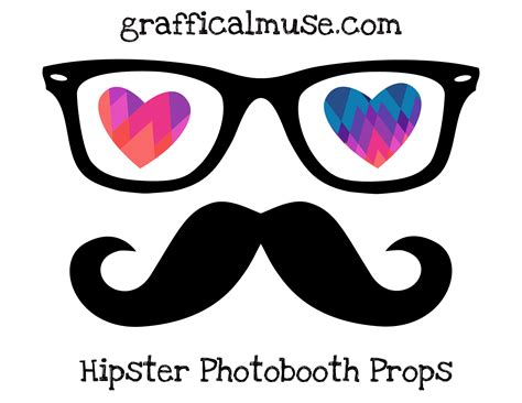 free printable photo booth props glasses free printable hipster photo booth props for valentine s