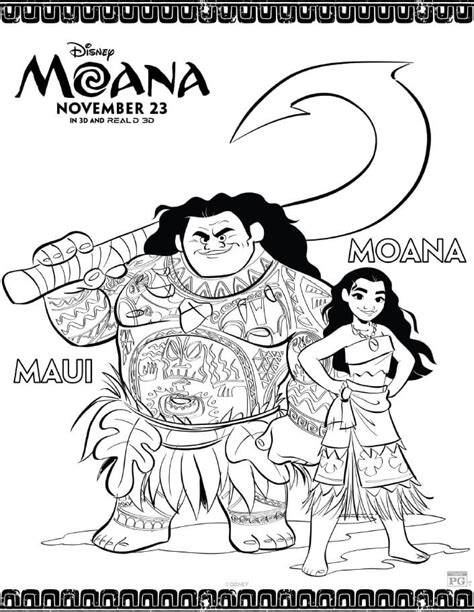 coloring page moana moana coloring pages free printables from disney
