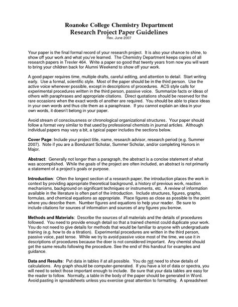 formatting a research paper college research paper