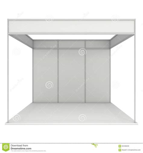 3d booth design template trade show booth box 3d white and blank stock