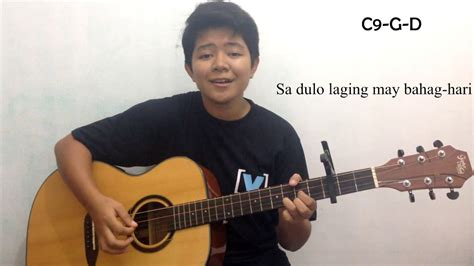 guitar tutorial ikaw at ako ikaw at ako pa rin by tj monterde ft kz tandingan guitar