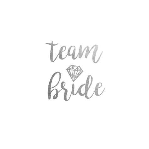 wedding gold flash metallic tattoo for team bride gold