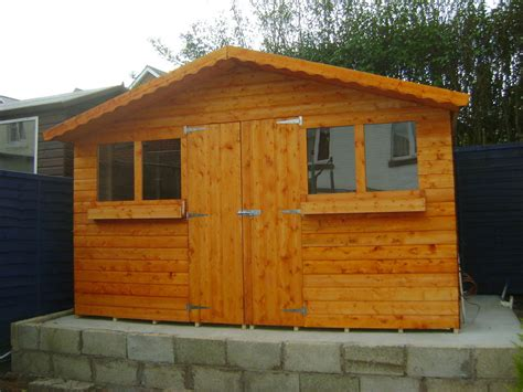 8ft X 10ft Shed by 12ft X 10ft Garden Shed Summer House With 1ft Overhang