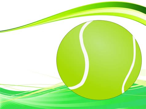 Tennis Ball Backgrounds Green Sports Templates Free Ppt Backgrounds And Powerpoint Slides Tennis Powerpoint Template