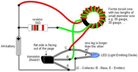 joules thief circuit diagram joule thief getting power from dead batteries