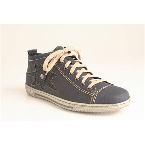 high cut shoes for rieker lace up and zip high cut shoe in denim blue l9441