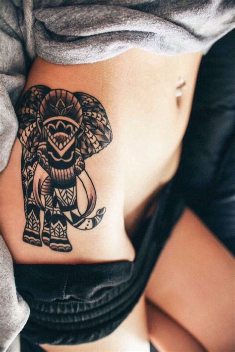 elephant thigh tattoo cool elephant tattoo ideas