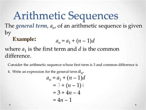 arithmetic sequence exle arithmetic sequence exles 10 free word excel pdf